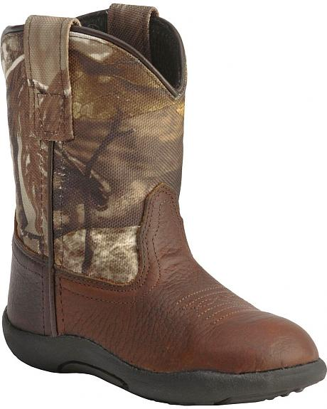Old West Toddler Boys' Realtree Camo Boots