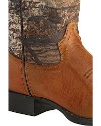 Old West Children's Realtree Green Camo Cowboy Boo at Sheplers