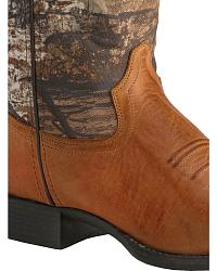 Old West Youth Realtree Green Camo Cowboy Boots at Sheplers