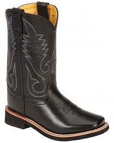 Smoky Mountain Child's Black Western Boots - Square Toe