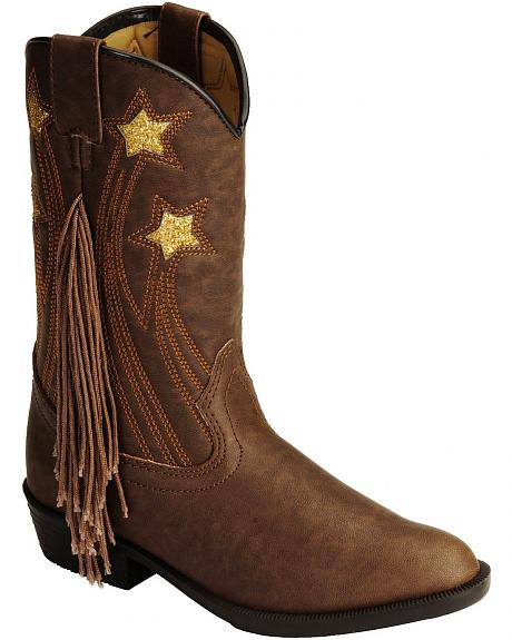 Smoky Mountain Youth Stars & Fringe Cowgirl Boots
