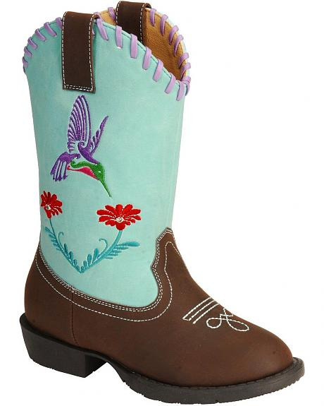 Smoky Mountain Children's Austin Lights w/Hummingbird Cowgirl Boots