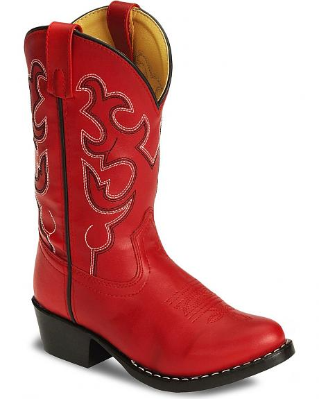 Swift Creek Toddler Red Western Boots