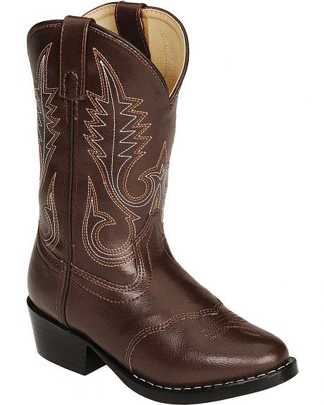 Swift Creek Youth Brown Vinyl Western Boots