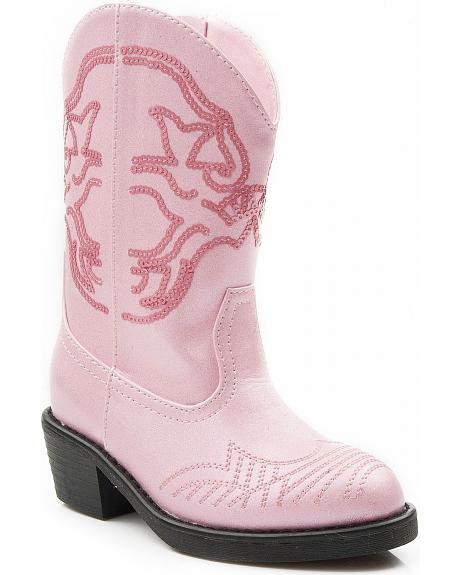 Roper Toddler Girls' Shiny Sequins Cowgirl Boots