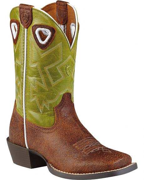Ariat Youth Boys' Charger Cowboy Boots