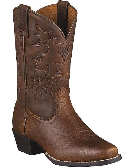Ariat Boys'  Legend Rowdy Cowboy Boots - Square Toe