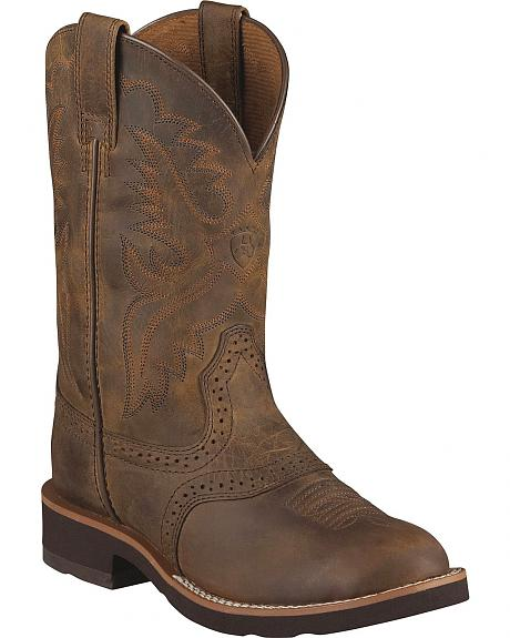 Ariat Youth Girls' Heritage Crepe Cowboy Boots