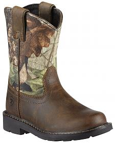 Ariat Boys' Sierra Distressed Cowboy Boots