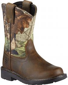 Ariat Youth Boys' Sierra Distressed Cowboy Boots - Round Toe
