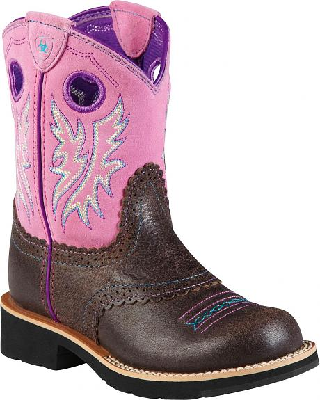 Ariat Girls' Bubblegum Fatbaby Cowgirl Boots