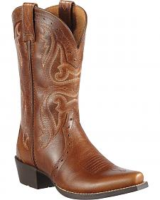 Ariat Youth Girls' Heritage Vintage Cedar Cowgirl Boots