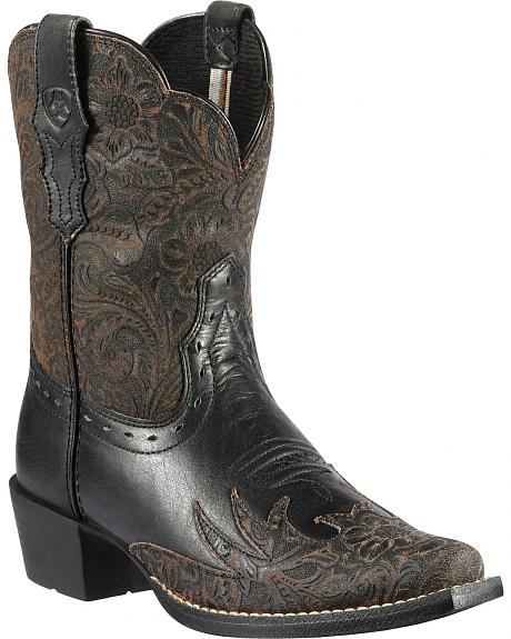 Ariat Youth Dahlia Tooled Cowgirl Boots