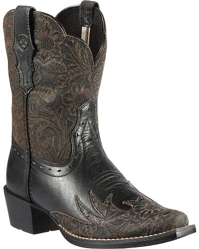 Ariat Childrens Dahlia Tooled Cowgirl Boots Western & Country 10010914C