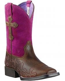 Ariat Youth Girls' Crossroads Cowgirl Boots - Square Toe