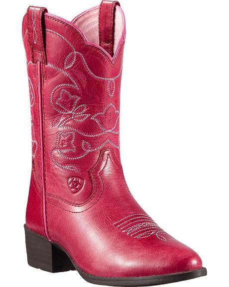 Ariat Youth Heritage Western Watermelon Cowgirl Boots - Round Toe
