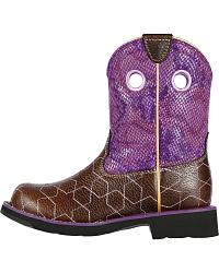 Ariat Youth Fatbaby Starstruck Purple Python Print at Sheplers