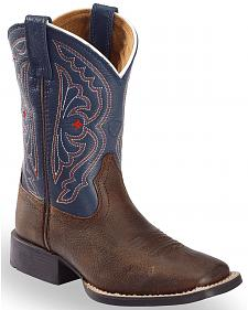 Ariat Boys' Royal Blue Quickdraw Cowboy Boots - Square Toe