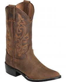Justin Youth Boys' Basic Western Cowboy Boots - Round Toe