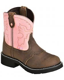 Justin Youth Girls' Bay Apache Pink Gypsy Boots
