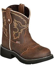Justin Girls' Aged Bark Gypsy Cowboy Boots
