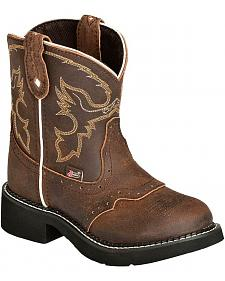 Justin Youth Girls' Aged Bark Gypsy Cowboy Boots