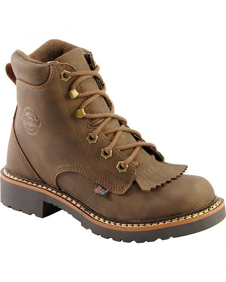 Justin Youth Gaucho Lacer Boots - Round Toe