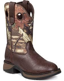 Durango Boys' Lil' Durango Camo Cowboy Boots - Round Toe