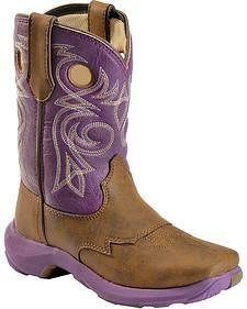 Durango Children's Lil' Rebelicious Cowgirl Boots - Square Toe