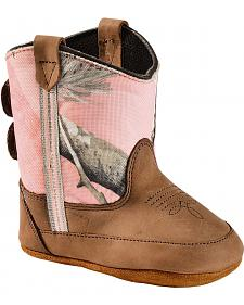 Old West Infant Girls' Pink Camo Poppets