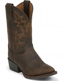Justin Boys' Cowboy Boots - Round Toe