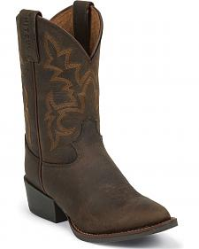 Justin Youth Boys' Cowboy Boots - Round Toe