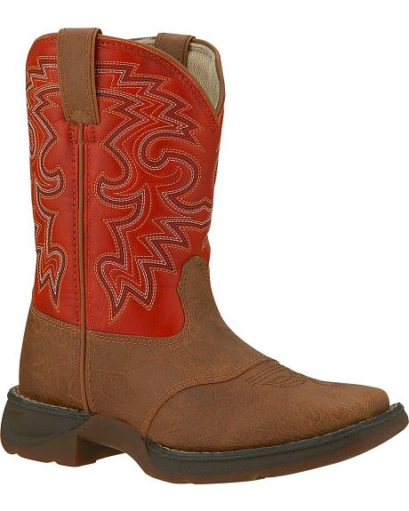 Durango Boys' Orange Lil' Durango Cowboy Boots - Square Toe