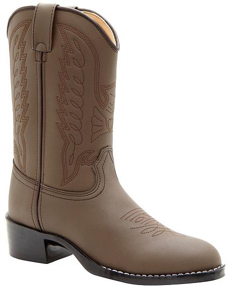 Durango Boys' Brown Cowboy Boots - Round Toe