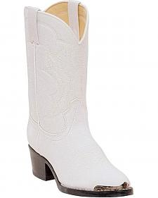 Durango Girls' White Cowgirl Boots - Round Toe