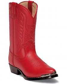 Durango Girls' Red Cowgirl Boots