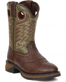 Durango Youth Boys' Olive Green Lil' Durango Cowboy Boots - Round Toe