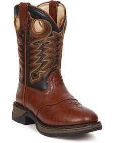 Durango Youth Saddle Vamp Lil' Durango Cowboy Boots - Round Toe