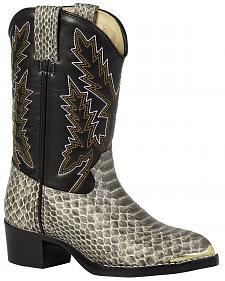 Durango Youth Girls' Snake Print Cowboy Boots