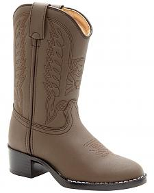 Durango Youth Brown Cowboy Boots - Round Toe