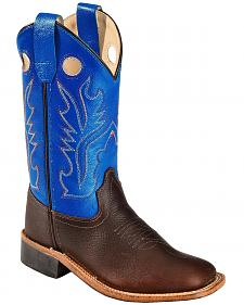 Old West Youth Boys' Thunder Cowboy Boots - Square Toe