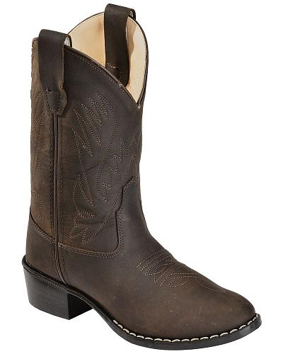Old West Youth Distressed Ultra Flex Cowboy Boots