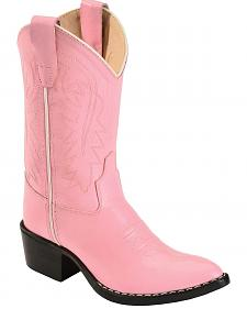 Old West Girls' Pink Cowgirl Boots
