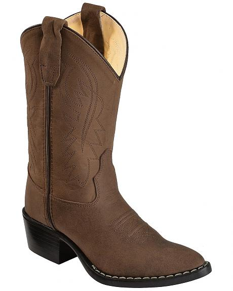 Old West Youth Distressed Western Boots