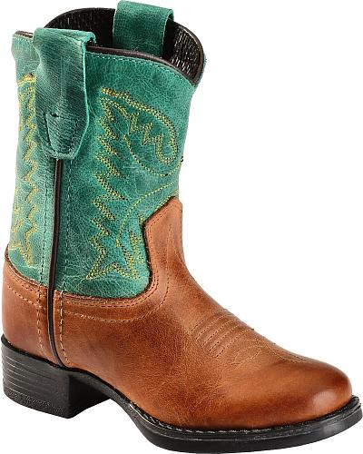 Old West Toddler Ultra Flex Teal Cowboy Boots Western & Country 1905IT