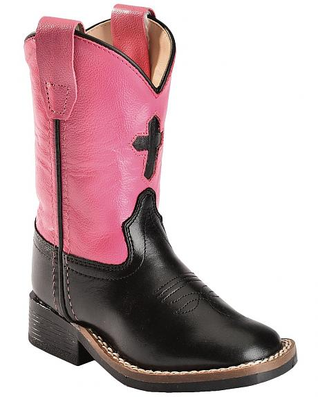 Old West Toddler Girls' Cross Cowgirl Boots