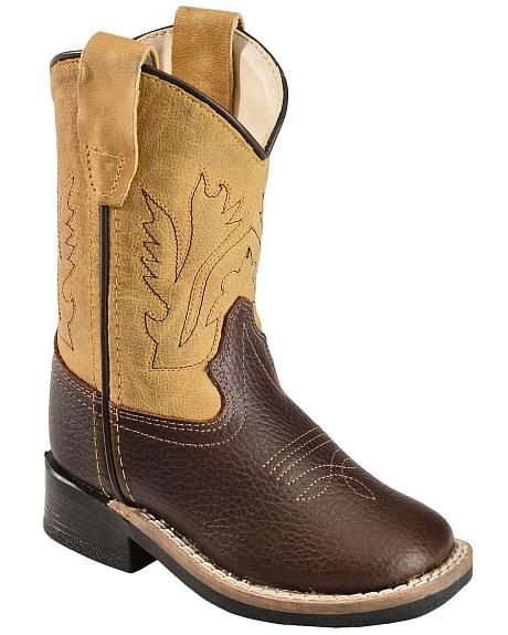 Old West Toddler Boys' Yellow Cowboy Boots - Square Toe