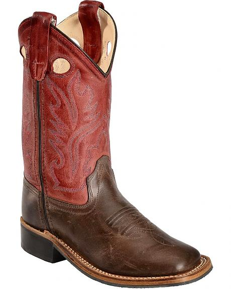 Old West Children's Brown Canyon Cowboy Boots