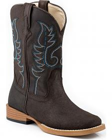 Roper Toddler Boys' Traditional Western Stitched Cowboy Boots