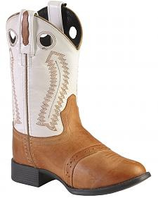 Old West Youth Ultra Flex Western Boots - Round Toe